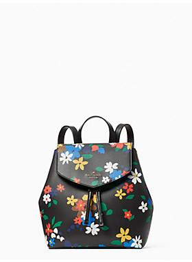 Kate Spade Medium Lizzie Sailing WKR00381 Flap Backpack In Floral Black Multi