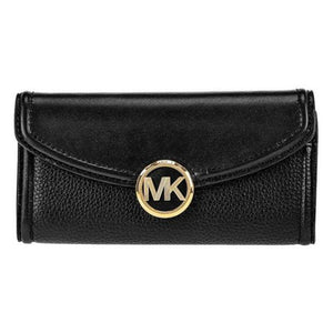 Michael Kors Fulton Large Flap Continental Wallet 35F9GFTE3L In Navy