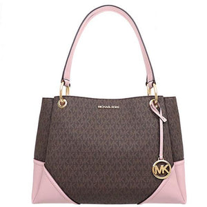 Michael Kors Nicole Large Shoulder Tote Bag 35H9GNIE7B In Blossom
