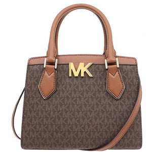 Michael Kors Mott 35T0GOXM2B Medium Messenger Bag In Brown Acorn