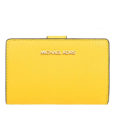 Michael Kors Medium Bifold Zip Coin 35T0GTVF8L Jet Set Travel Wallet In Citrus