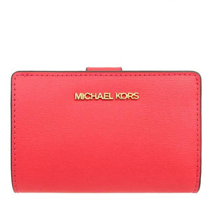 Michael Kors Medium Bifold Zip Coin 35T0GTVF8L Jet Set Travel Wallet In Coral Reef