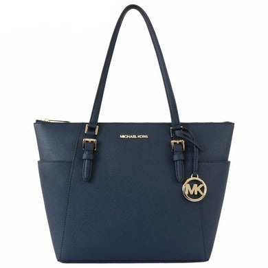 Michael Kors Charlotte Large Top Zip Tote Bag 35T0GCFT7L In Navy