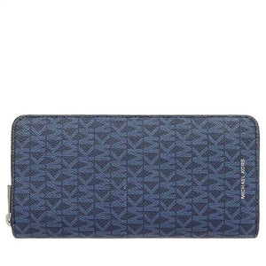 Michael Kors Cooper 36U9MCRE3B Tech Zip Around Wallet In Admiral Blue