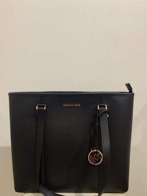 Michael Kors Medium Sady 38T0CD4T2L NS Top Zip Tote Bag In Black