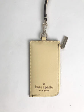 Kate Spade Staci Card Case WLR00139 Lanyard In Butter