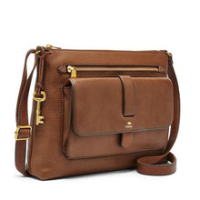 Load image into Gallery viewer, Fossil Kinley Crossbody Brown
