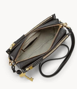 Fossil Campbell ZB7264001 Crossbody Bag In Black