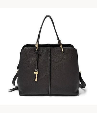 Fossil Lane Satchel In Black