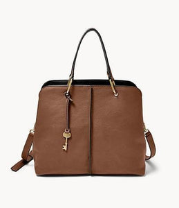 Fossil Lane Satchel In Brown