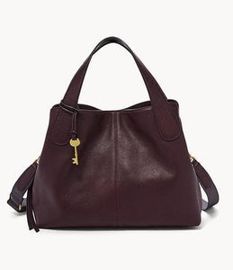 Fossil Maya Satchel Bag In Fig