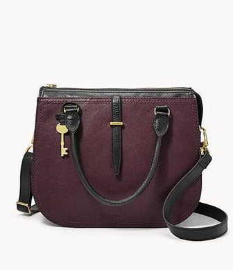 Fossil Ryder Satchel Bag In Fig