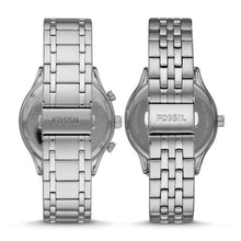 Load image into Gallery viewer, Fossil His and Her BQ2469SET Fenmore Midsize Multifunction Stainless Steel Watch Gift Set