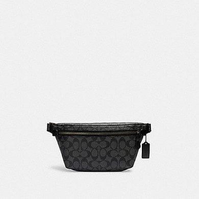 Coach Signature Grade C1411 Belt Bag In Black Charcoal