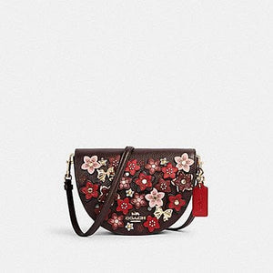 Coach Ellen C2176 Crossbody Bag With Daisy Applique In Oxblood Red multi