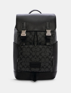 Coach Signature Track C2712 Backpack In Charcoal