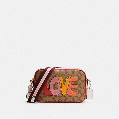 Coach Signature Jes C2808 Love Print Crossbody Bag In