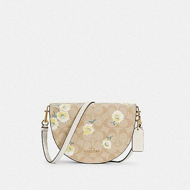 Coach Signature Ellen C3597 Crossbody Bag With Daisy Weight
