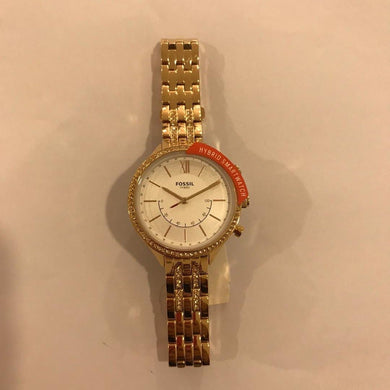 Fossil Women's Hybrid Smartwatch BQT5001 Rose Gold Strap Watch