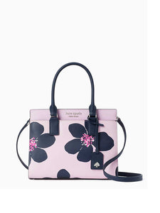 Kate Spade Cameron Grand Flora Medium Satchel WKRU6738 In Serendipity Pink Multi