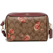 Load image into Gallery viewer, Coach Signature 3056 Daisy Print Bennett Crossbody Bag In Khaki Coral Multi