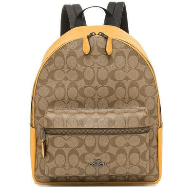Coach Signature Medium Charlie 32200 Backpack In Khaki Honey