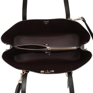 Coach Avenue Carryall Leather F48733 In Black/Oxblood