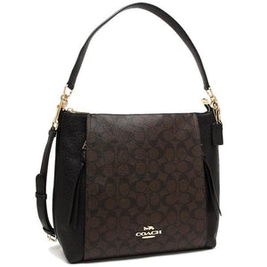 Coach Signature Marlon Hobo Shoulder Bag F79993 In Brown Black