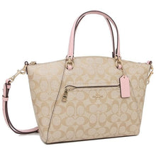 Load image into Gallery viewer, Coach  Signature Prairie Satchel Bag 79998 In Light Khaki Blossom