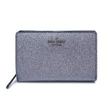 Kate Spade Medium Joeley WLRU5762 Glitter Bifold Wallet In DuskNavy