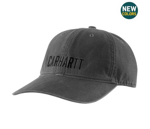 Carhartt Canvas Full Back Graphic Cap In Black