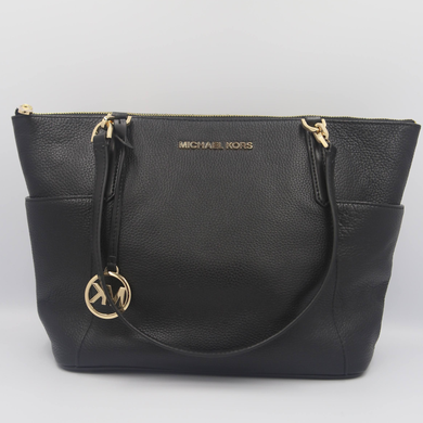 (Preloved) Michael Kors Bedford 35F9GBFT9L EW Top Zip Tote Bag In Black