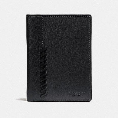 Coach Passport Case With Baseball Stitch F22538 (Black)