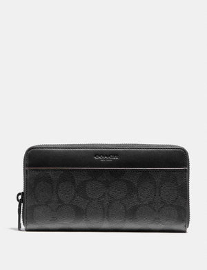 Coach Accordion Wallet F25517 (Black/Black/Oxblood)