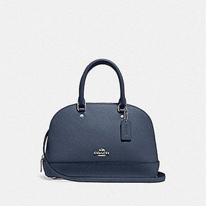 Coach Handbag Mini Sierra Satchel F27591 (Denim/Silver)