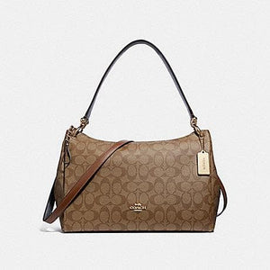 COACH MIA SHOULDER BAG IN SIGNATURE CANVAS F28967 (KHAKI SADDLE/IMITATION GOLD)