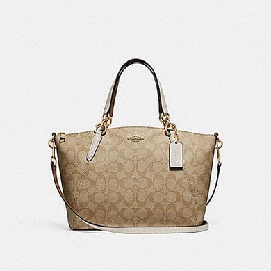 COACH SMALL KELSEY SATCHEL IN SIGNATURE CANVAS F28989 (LIGHT KHAKI/CHALK/IMITATION GOLD)