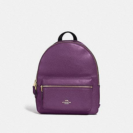 COACH MEDIUM CHARLIE BACKPACK F30550 (GOLD/BLACKBERRY)