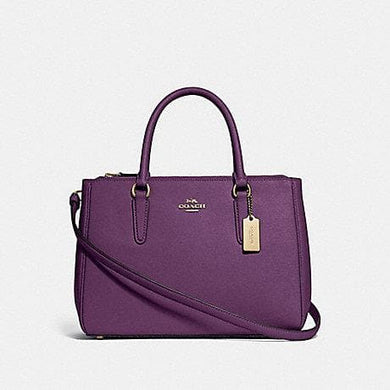 COACH HANDBAG SURREY CARRYALL F44958 (GOLD/BLACKBERRY)