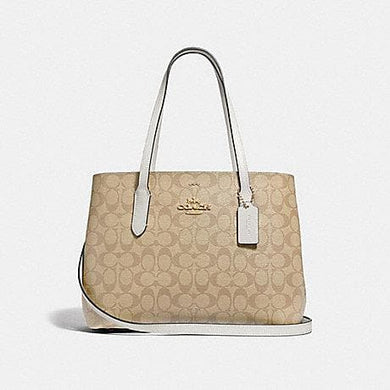 Coach Signature Avenue F48735 Carryall Bag In Light Khaki Chalk