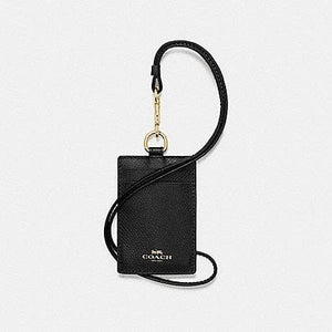 Coach Crossgrain ID Lanyard F57311 In Black