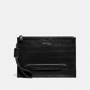 Coach Structered F73151 Pouch In Black