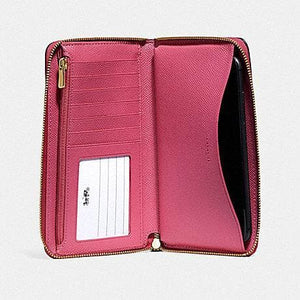 COACH LARGE PHONE WALLET F75908 (PINK RUBY/GOLD)