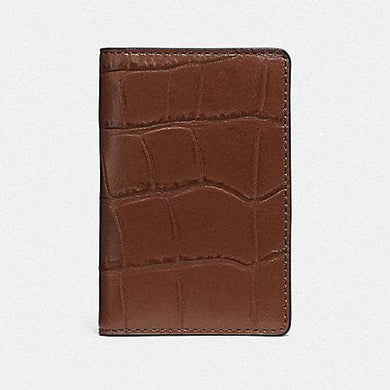 Coach Card Wallet F75913 (Saddle)