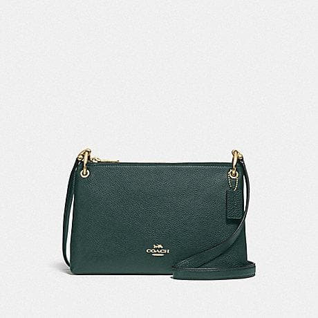 Coach Mia Crossbody F76645 (Imitation Gold/Evergreen)