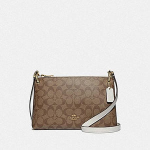 Coach Mia Crossbody in Signature Canvas F76646 (Khaki/Chalk/Gold)