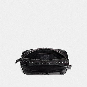 Coach Graham Crossbody with Signature Motif and Studs F76911 (Nickel Black)