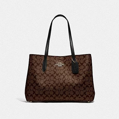 Coach Signature Large Avenue Carryall F79987 In Brown Black