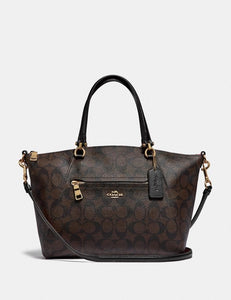 Coach Prairie Satchel In Signature Canvas F79998 (IM/Brown/Black)