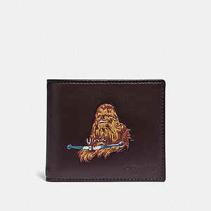 Star Wars X Coach 3-In-1 Wallet with Chewbacca F88116 (Qb/Oxblood)